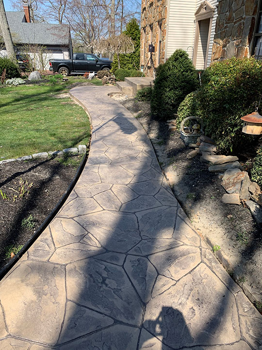 Stamped Concrete At House