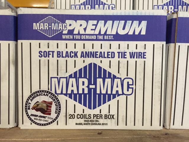 Mar-Mac Premium Soft Black Annealed Tie Wire